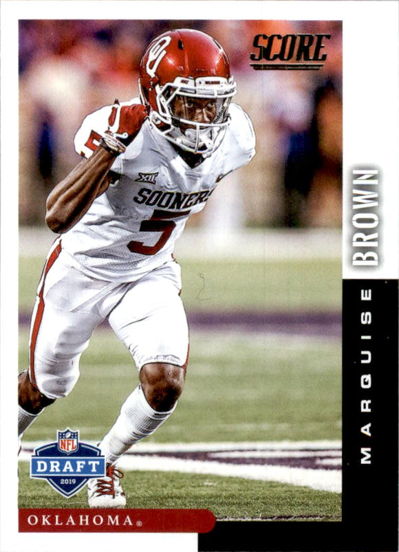 2019 Score NFL Draft Marquise Brown Baltimore Ravens