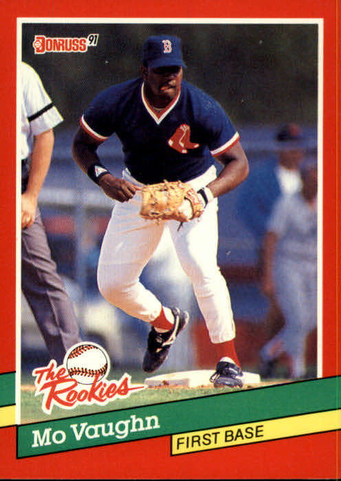 1991 Donruss Rookies Mo Vaughn Boston Red Sox