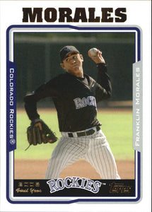 2005 Topps Update Franklin Morales First Year Colorado Rockies