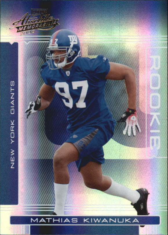 2006 Absolute Memorabilia /999 Mathias Kiwanuka Rookie Card New York Giants