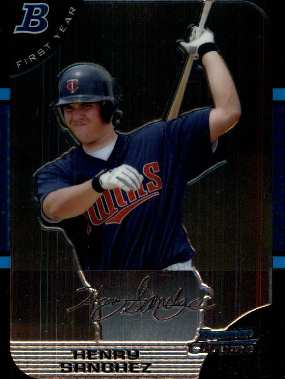 2005 Bowman Chrome Draft Henry Sanchez First Year Minnesota Twins