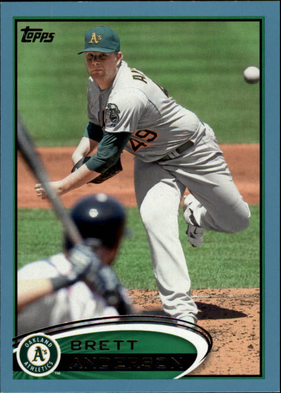 2012 Topps Walmart Blue Border Brett Anderson Oakland Athletics