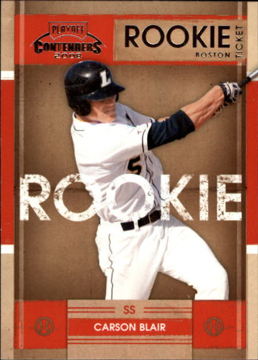 2008 Playoff Contenders Carson Blair Rookie Card Boston Red Soxs