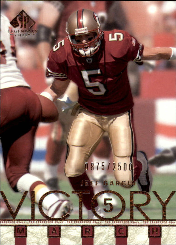 2002 SP Legendary Cuts Victory March /2500 Jeff Garcia San Francisco 49ers