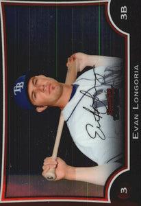 2009 Bowman Chrome Evan Longoria Tampa Bay Rays