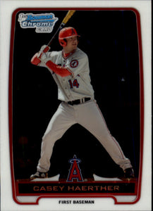 2012 Bowman Chrome Prospects Casey Haerther Los Angeles Angels