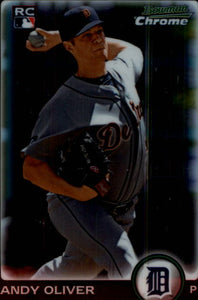 2010 Bowman Chrome Andy Oliver Rookie Card Detroit Tigers