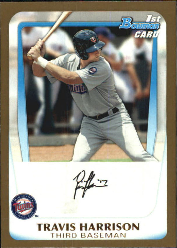 2011 Bowman Draft Prospects Gold Travis Harrison Minnesota Twins