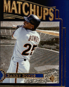 1996 SP Upper Deck Marquee Matchup Barry Bonds San Francisco Giants