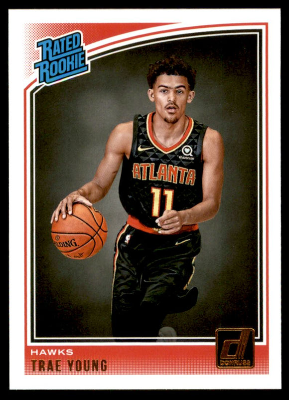 2018-19 Donruss Trae Young Rated Rookie Card Atlanta Hawks