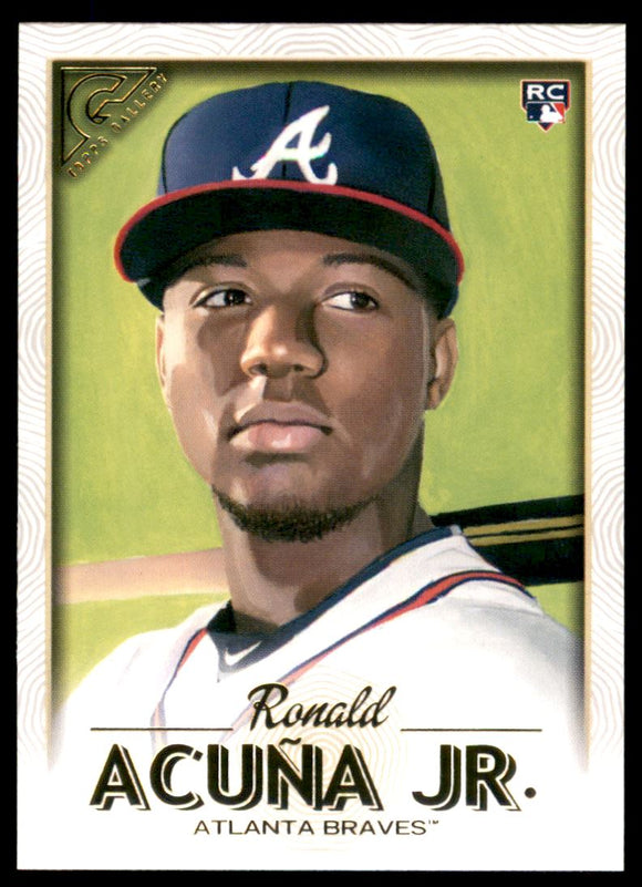 2018 Topps Gallery Ronald Acuna Rookie Card Atlanta Braves