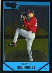 2007 Bowman Chrome Prospects Fernando Rodriguez Los Angeles Angels