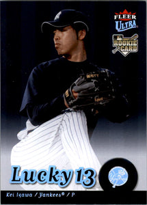 2007 Fleer Ultra Lucky 13 Kei Igawa Rookie Card New York Yankees