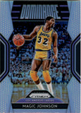 2018-19 Panini Prizm Dominance Prizms Silver Magic Johnson Los Angeles Lakers