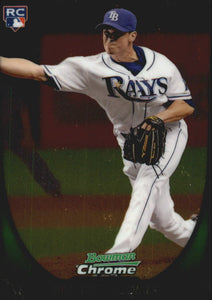2011 Bowman Chrome Draft Brandon Gomes Rookie Card Tampa Bay Rays