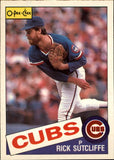 1985 O-Pee-Chee Rick Sutcliffe Chicago Cubs