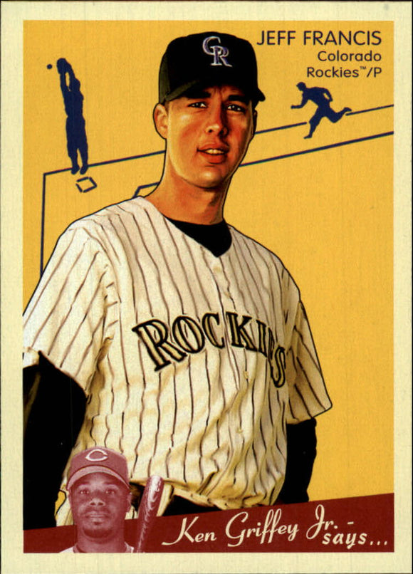 2008 Upper Deck Goudey Jeff Francis Colorado Rockies