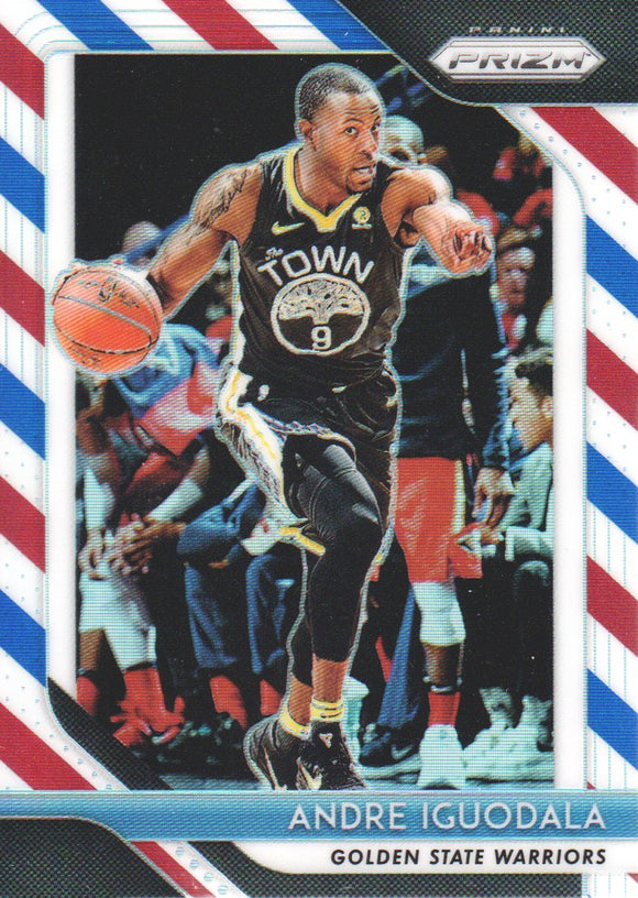 2018-19 Panini Prizm Prizms Red White And Blue Andre Iguodala Golden State Warriors