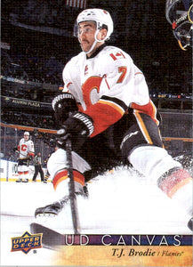 2017-18 Upper Deck Canvas TJ T.J. Brodie Calgary Flames