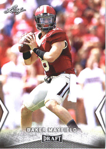 2018 Leaf Draft Baker Mayfield Rookie Card Cleveland Browns
