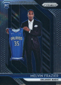 2018-19 Panini Prizm Melvin Frazier Rookie Card Orlando Magic