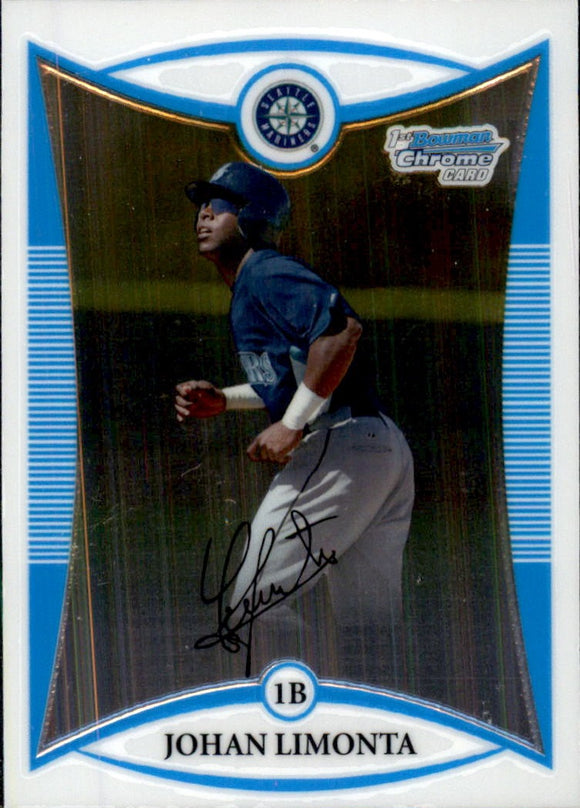 2008 Bowman Chrome Prospects Johan Limonta Seattle Mariners