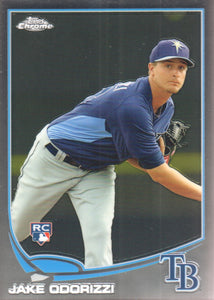 2013 Topps Chrome Jake Odorizzi Rookie Card Tampa Bay Rays