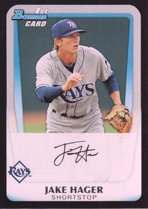 2011 Bowman Draft Prospects Jake Hager Tampa Bay Rays