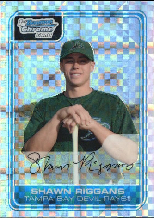 2006 Bowman Chrome Prospects X-Fractor /250 Shawn Riggans Tampa Bay Rays