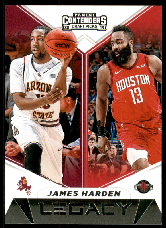 2019-20 Panini Contenders Draft Picks Legacy James Harden Houston Rockets