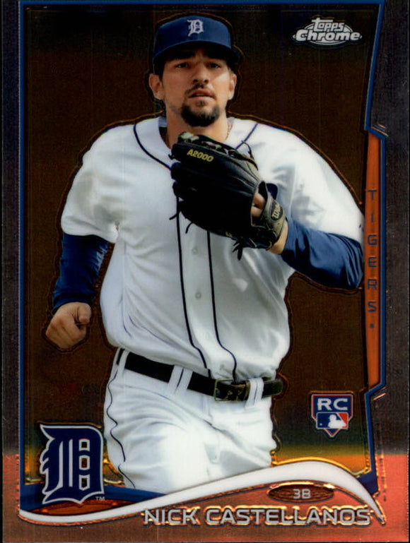 2014 Topps Chrome Nick Castellanos Rookie Card Detroit Tigers
