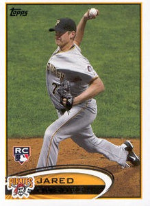 2012 Topps Jared Hughes Rookie Card Pittsburgh Pirates
