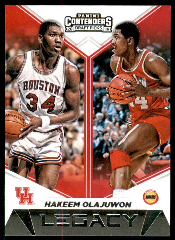 2019-20 Panini Contenders Draft Picks Legacy Hakeem Olajuwon Houston Rockets