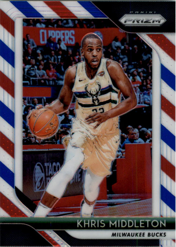 2018-19 Panini Prizm Prizms Red White Blue Khris Middleton Milwaukee Bucks