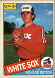 1985 O-Pee-Chee Richard Dotson Chicago White Sox