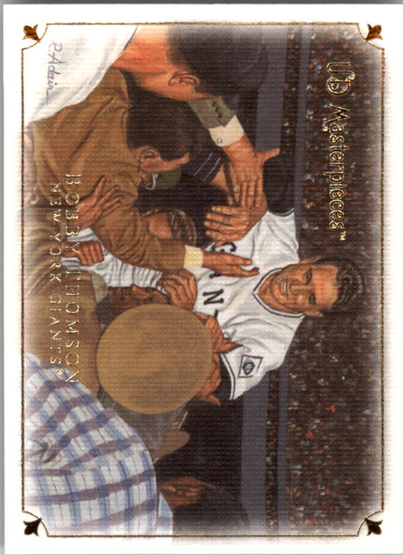 2007 UD Masterpieces Bobby Thomson New York Giants