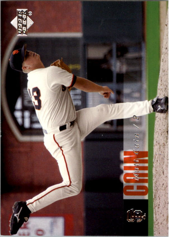 2006 Upper Deck Matt Cain Rookie Card San Francisco Giants