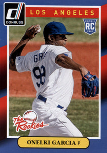 2014 Donruss The Rookie Onelki Garcia Los Angeles Dodgers