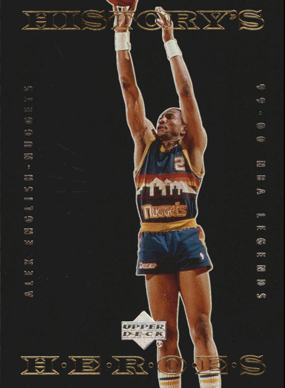2000 Upper Deck Century Legends History's Heroes Alex English Denver Nuggets