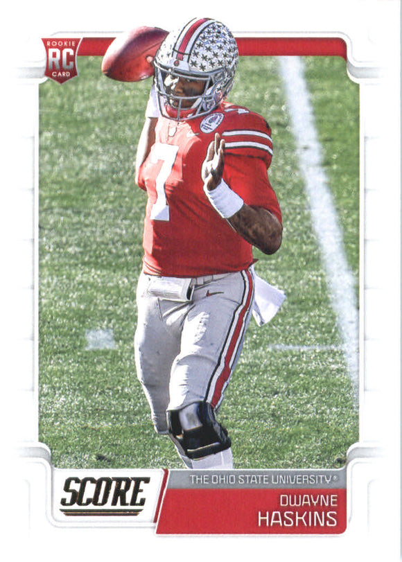 2019 Score Dwayne Haskins Rookie Card Washington Redskins