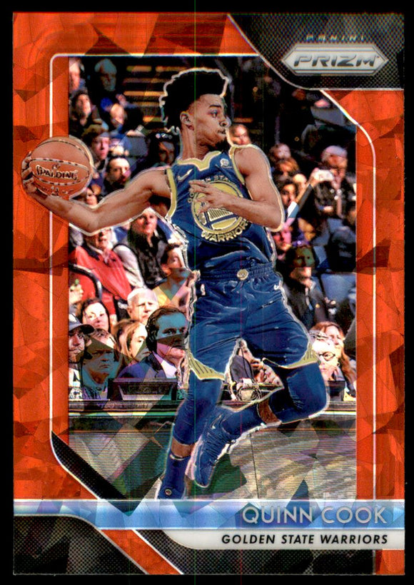 2018-19 Panini Prizm Prizms Red Ice Quinn Cook Golen State Warriors