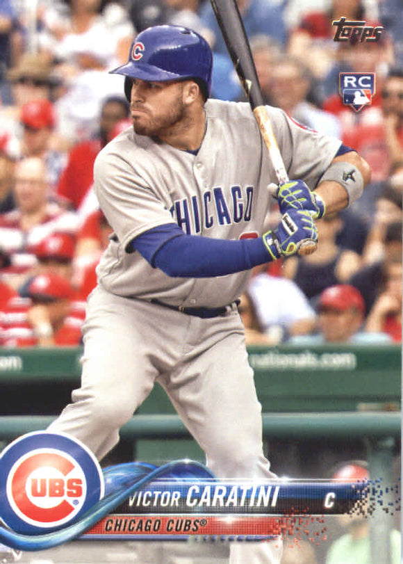 2018 Topps Victor Caratini Rookie Card Chicago Cubs