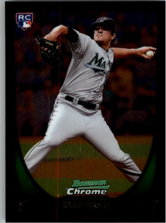 2011 Bowman Chrome Draft Brad Hand Rookie Card Florida Marlins