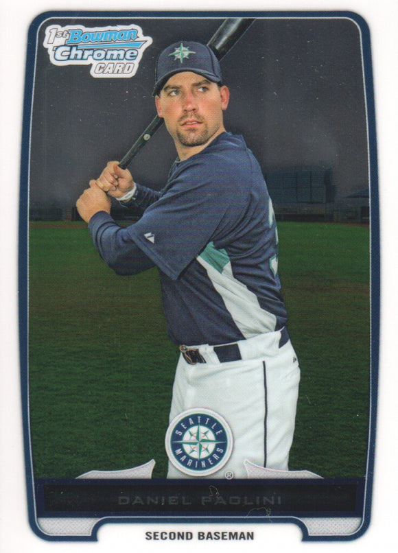 2012 Bowman Chrome Prospects Daniel Paolini Seattle Mariners