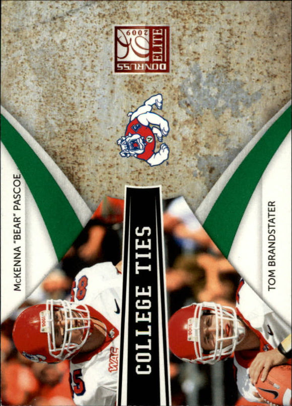 2009 Donruss Elite College Ties Combos Green /899 Bear Pascoe/Tom Brandstater