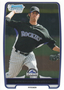 2012 Bowman Chrome Prospects Christian Bergman Colorado Rockies