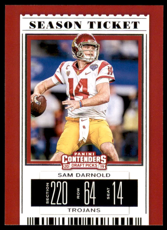 2019 Panini Contenders Draft Picks Sam Darnold New York Jets