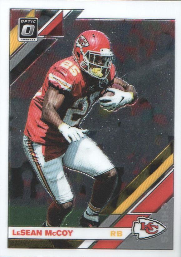 2019 Donruss Optic LeSean McCoy Kansas City Chiefs