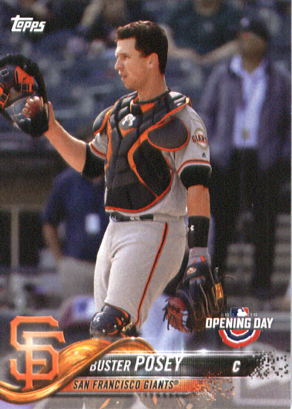 2018 Topps Opening Day Buster Posey San Francisco Giants
