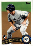 2011 Topps Update Logan Forsythe Rookie Card San Diego Padres